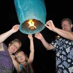 New Year's Eve Sky Lanterns on the Beach