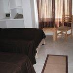 Room with built-inn wall safe