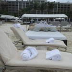 The towel swans for our lounger
