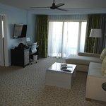 Blue tip suites sitting area