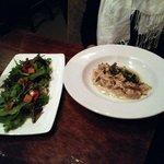 Spaghtti and salad