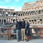 On the recreated platform over the Colosseum