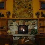 Front fireplace as you walk in the front lobby doors.