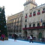 Plaza ayuntamiento met de feestdagen