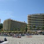 La vue de l'hôtel de la plage