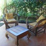 La veranda della camera quadrupla