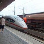 Our ICE train to Koln/Bonn Airport.