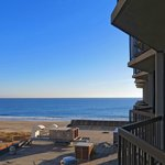 view of ocean from wedge balcony