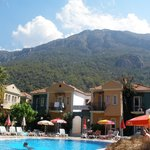 The pool and paragliding mountain
