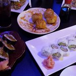 California Roll, Spider Roll and Monkey Balls.