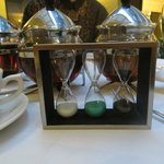 The Twinings egg timers for our tea; a nice touch