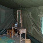 Inside the tent is very cool.