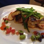 Seafood entree with scallops