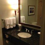 Bath and mirror