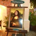 Uma pintura francesa, num restaurante italiano, em pleno México