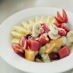Simply Wok's Fresh Fruit Salad - Served with Homemade Yoghurt and Toasted Almond Flakes