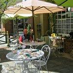 Brian enjoying the sunny patio