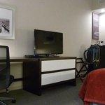 Tv, desk, dresser