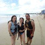 En la Playa de Tonsupa, Esmeraldas