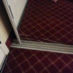 Closet door defect - cracked mirror