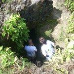 Exploring a cavern in Fort San Lorenzo