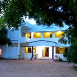 Blue Coral Cottage front view. Having both temple and sea view. Huge place for your relaxation