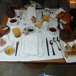 The gourmet breakfast