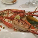 Grilled king prawns with garlic butter