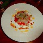 Carpaccio with lobster