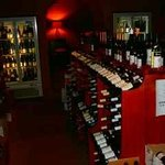 The wine shop inside the restaurant