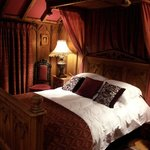Victorian gothic half tester bed.... The photo does not do this justice