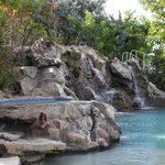 The waterfall in the pool at the Radisson Grenada Grand Beach Resort