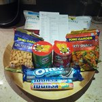 Some of the snacks available for the mini bar credits