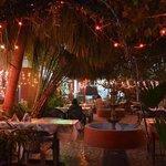 The wonderful courtyard-restaurant