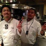 Joe-san & Tight-san behind the counter