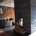 Fire Place in the lobby