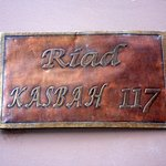 Riad Kasbah 117 sign outside