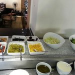 Breakfast Buffet - Pickles and decor greens