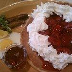 Strawberry pancake especial