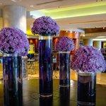 Elegant lobby flower display