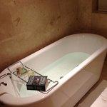 A much appreciated bath tub!
