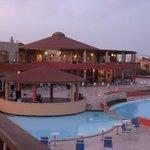 le restaurant au lever du soleil le jour du départ