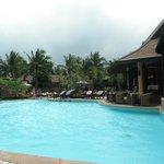 Poolbereich & Restaurant