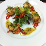 King scallops with chilies