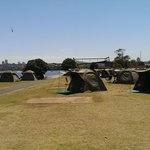 A view of the tents