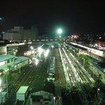 JR車庫の夜景