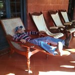 Lounging in one of the verandahs
