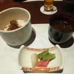 ちりめん山椒御飯 (夕食)