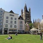 Вид отеля с набережной Рейна