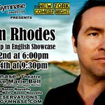 Tom Rhodes performed at SoGymnase in february 2014 for 2 shows !